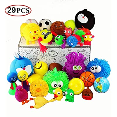 Jalousie 29 Pieces Stress Ball and Squeeze Toys Value Assortment-Stress Relax Toys (29 Pcs Pack).: Toys & Games