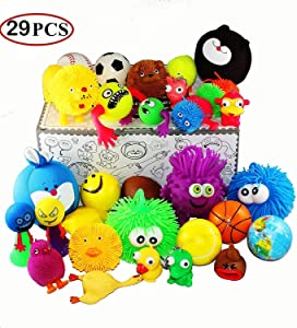 Jalousie 29 Pieces Stress Ball and Squeeze Toys Value Assortment-Stress Relax Toys (29 Pcs Pack).