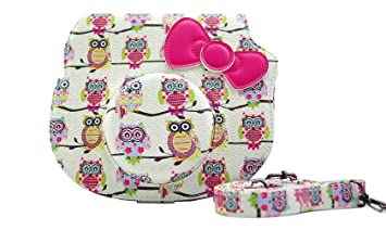 9ff4fcde507e Image Unavailable. Image not available for. Colour  Katia PU Leather  Instant Camera Case Bag with Strap and Pocket for Fujifilm Instax Hello  Kitty