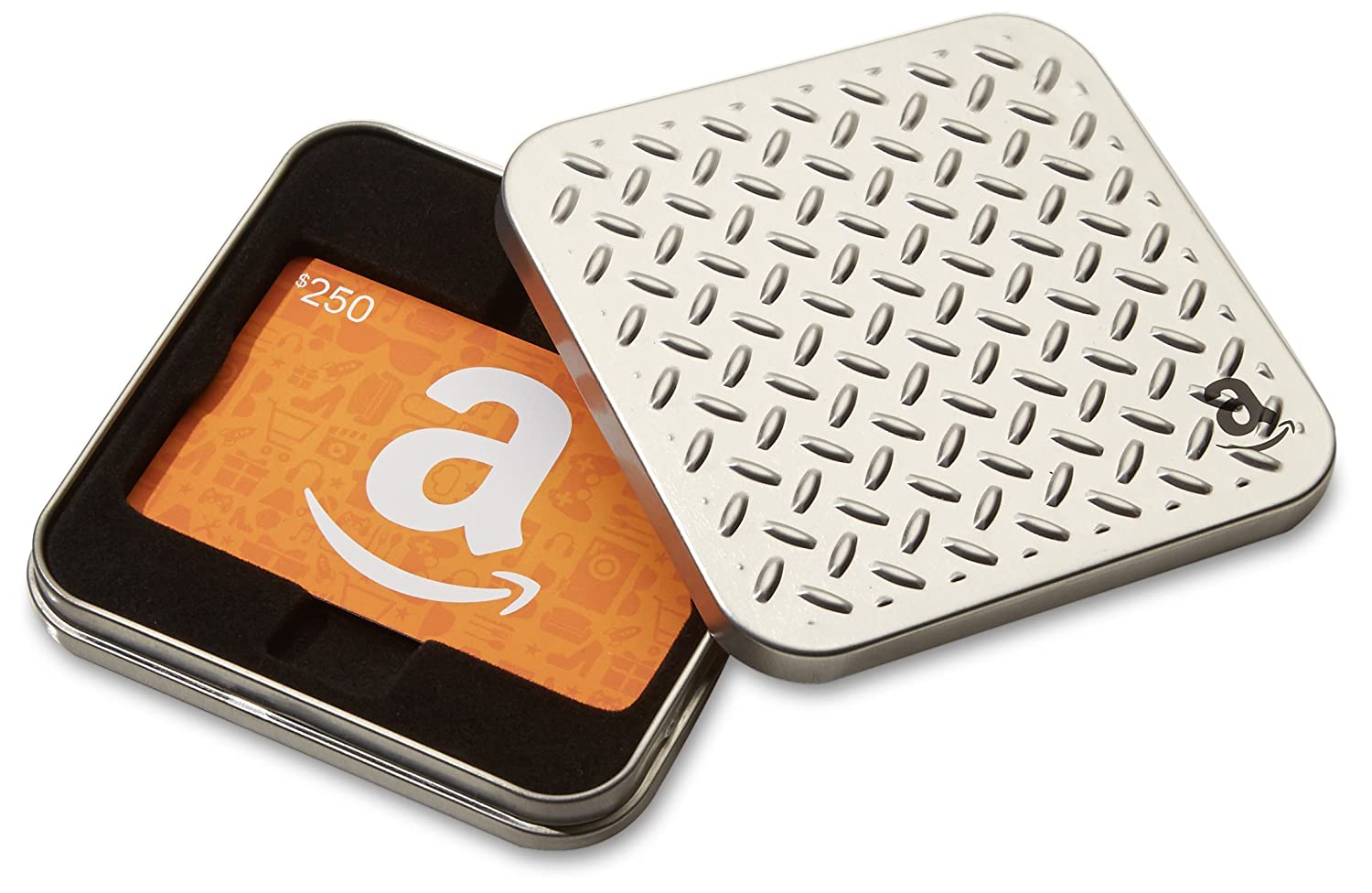 Amazon.ca Gift Card in a Diamond Plate Tin (Classic Amazon Icons Card Design)