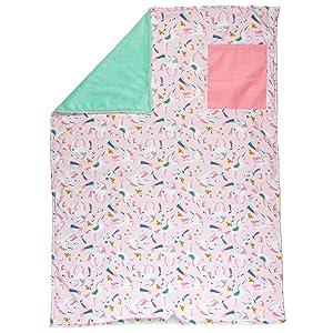 Stephen Joseph All Over Print Blanket, Pink Unicorn