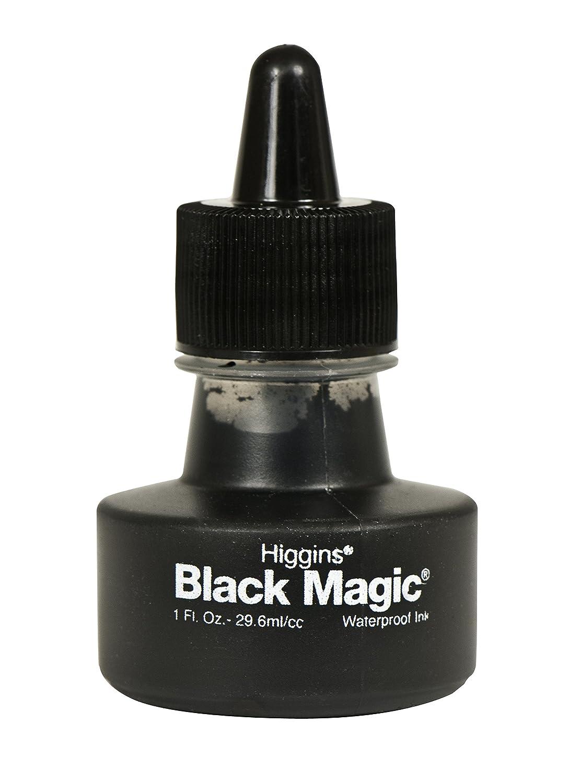 Higgins 44011 1 oz Magic Waterproof Pigmented Ink, Black