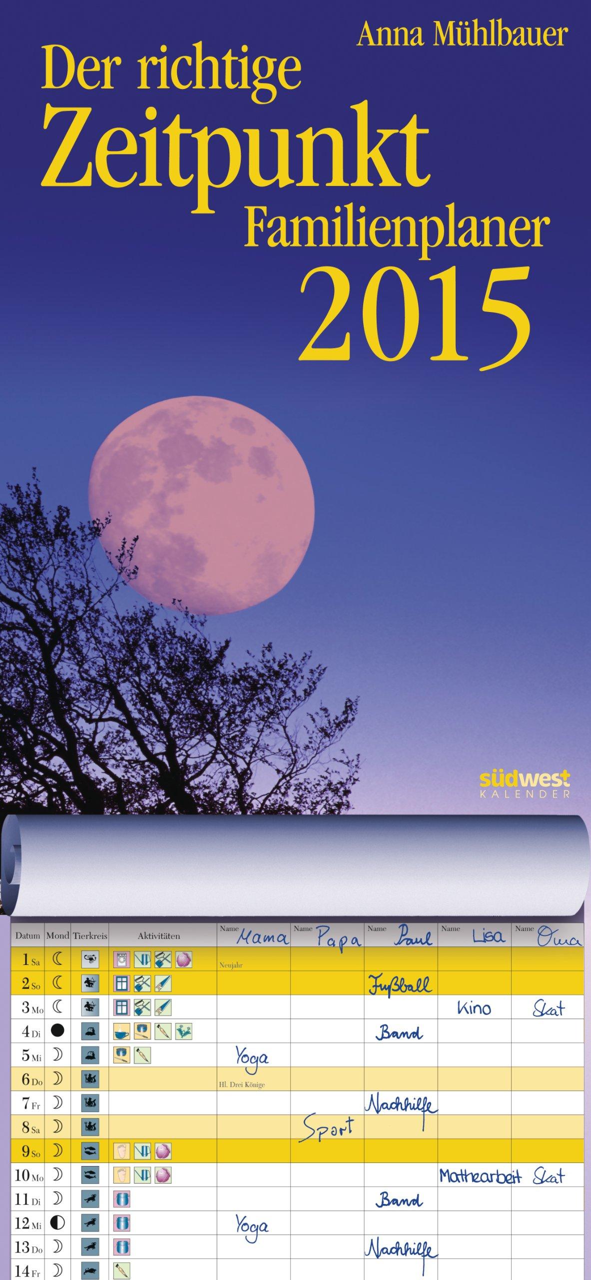 Der richtige Zeitpunkt 2015 Familienplaner