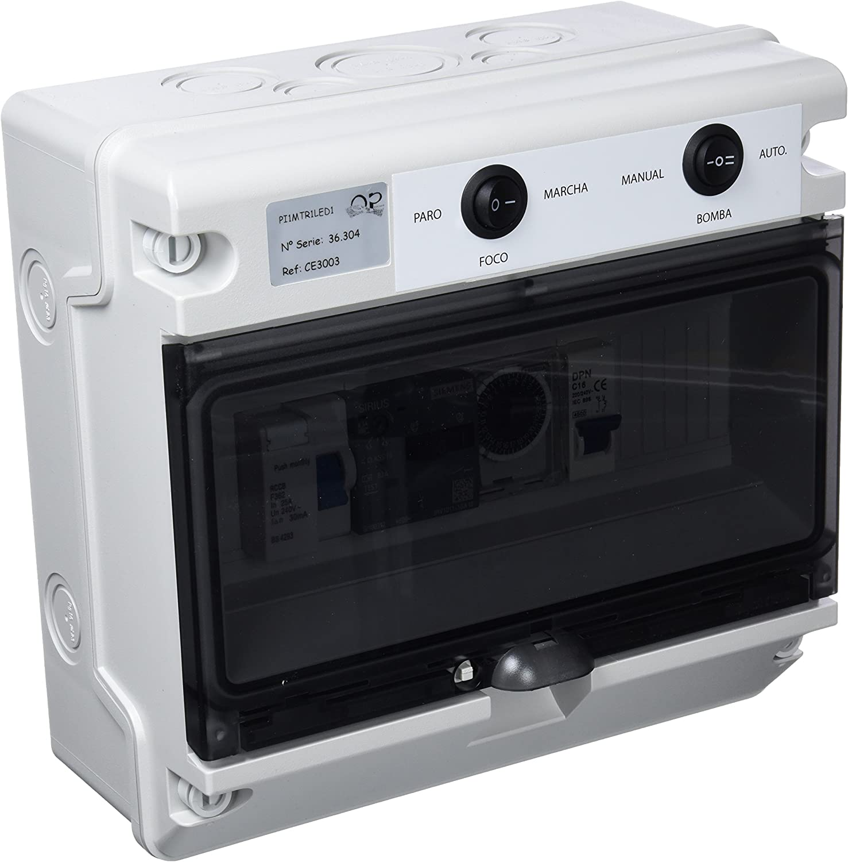 Productos QP Cuadro Electrico CD hasta 1 CV, 50W, Negro, 31x25x27 cm, CE3003
