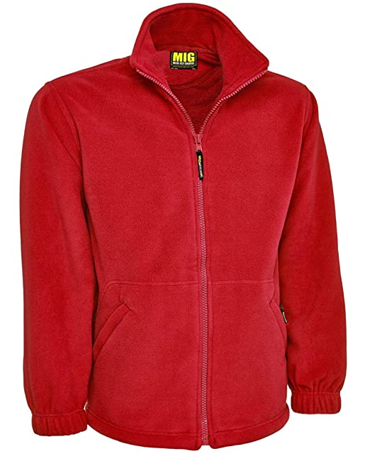 f220d6c05c64 MIG - Mud Ice Gravel Mens Classic Fleece Jacket Coat Sizes XS To 4XL - Work  Leisure Sports Casual  Amazon.co.uk  Clothing