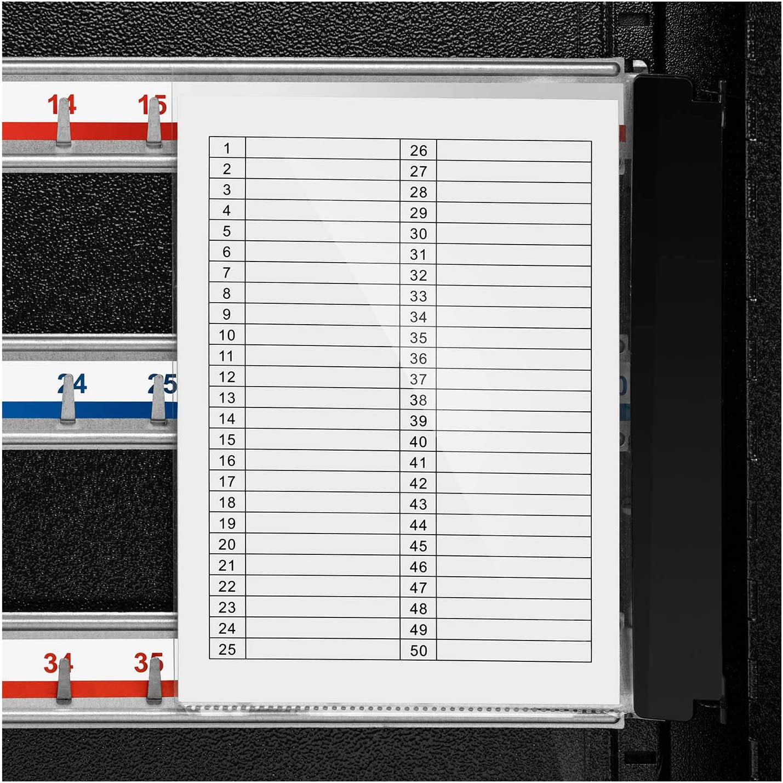 Para 54 llaves, Llaveros incluidos, Con cerradura y material de montaje Stamony Caja Para Llaves Armario Organizador ST-KB-52P
