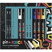 Pin + Posca Artist's Collection, Caixa com 7 unidades