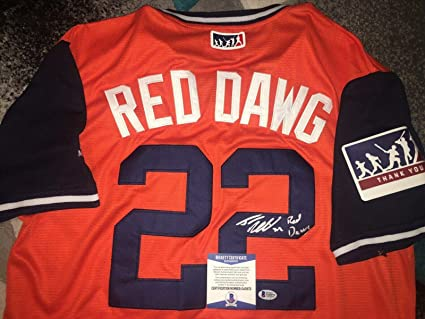huge selection of c3b0d 26ec1 Josh Reddick Signed Jersey - Nickname Red Dawg Star Beckett ...
