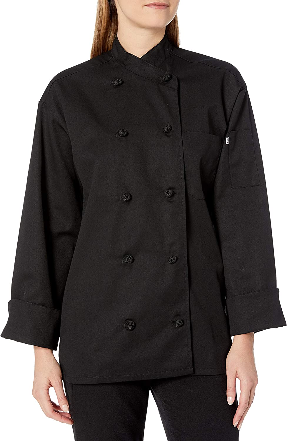 Uncommon Threads Men's Plus Size 0435-0110, Black, 6XL: Chefs Jackets: Clothing