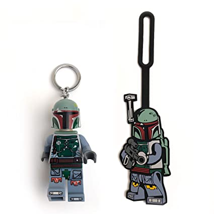 Amazon.com: LEGO Star Wars Boba Fett Minifigure Key Light ...
