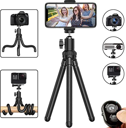 Phone Tripod, Flexible Cell Phone Tripod Adjustable Camera Stand Holder
