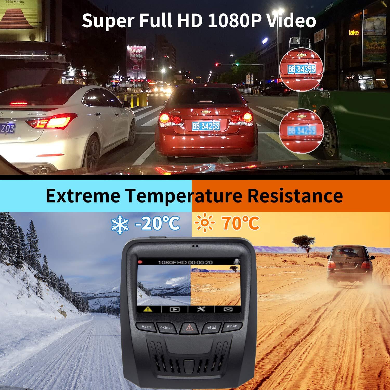 C101 Dash Camera for Cars,Dash cam Dashboard Camera Camcorder Driving Video Recorder HD 1080P Starlight Night Vision,G-Sensor,WDR,Motion Detection,Parking Monitor,Loop Recording YEEHAO