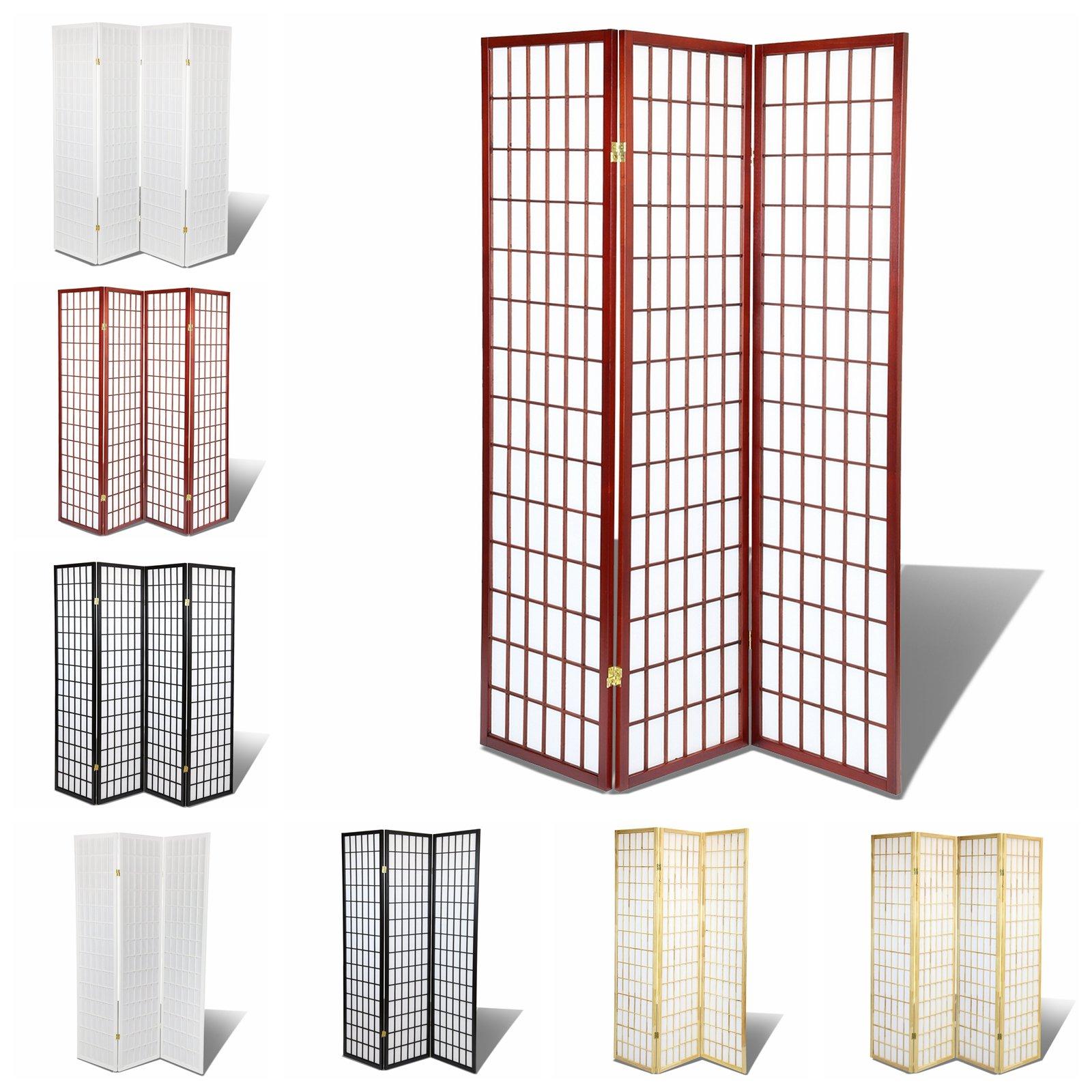 Oriental Room Divider Hardood Shoji Screen (Cherry, 3-Panel)
