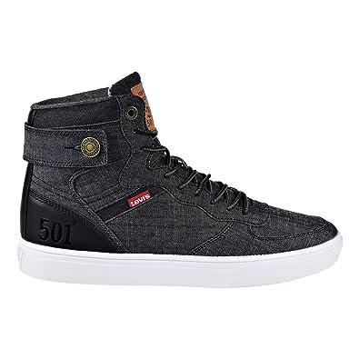 62137a9a Levi's Jeffrey Hi 501 SB Men's Fashion Shoes Black/White 518443-01a (9