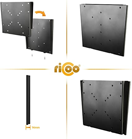 RICOO F0522, Soporte Monitor Pared, Fijo, Plano, Ultra Delgado ...