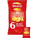 Walkers Ready Salted Crisps, 25g (6 Pack)