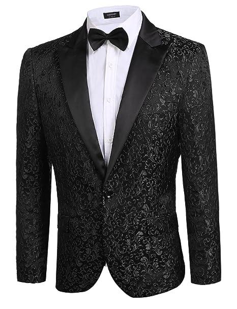 Amazon.com: Coofandy – Saco de fiesta de traje elegante para ...