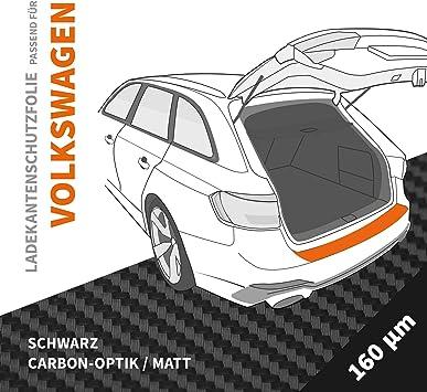 Ladekantenschutz Folie Ladekantenschutzfolie Passgenau Für Vw Golf Cabrio 6 1k Bj 2011 2016 Schwarz Matt Carbon Optik Stärke 160 µm 0 16mm Auto