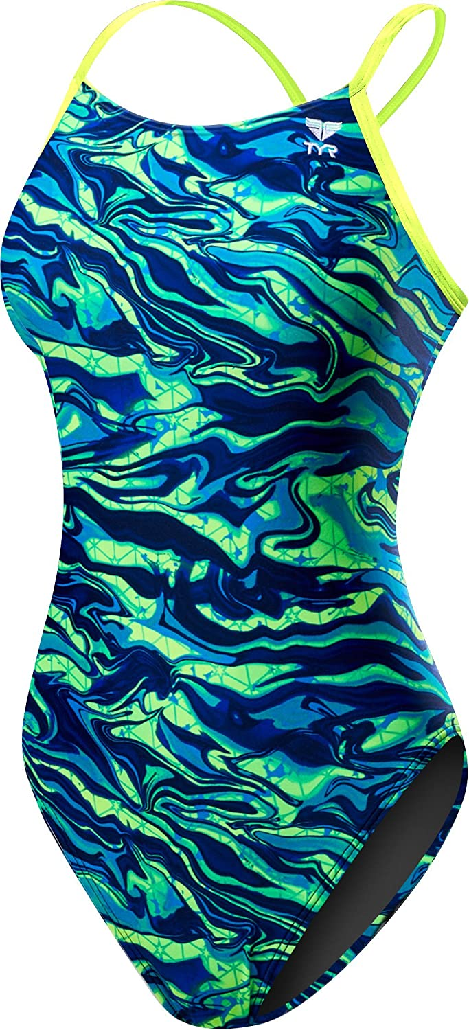 bluee Green TYR Women's Miramar Cutoutfit Swimsuit