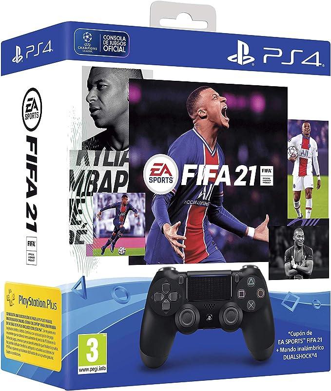 DS4 Black + Fifa 21 - PlayStation 4 [Edizione: Spagna]