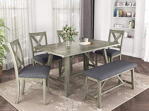 Merax 6 Piece Dining Table Set