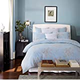 Softta Retro Chic Bohemia French Farmhouse Bedding Sets 3Pcs Queen Size Duvet Cover Sets 88 x 88 inches Damask 100…