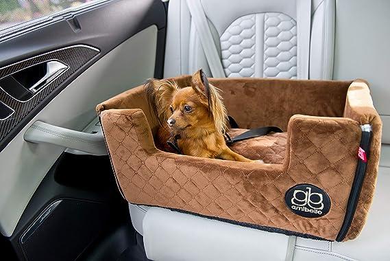 Boutique Zoo Premium Hunde Autositz Autositz Für Hunde Katzen Haustier Rückbank Beifahrersitz Hundebett Hundetasche Wildlederimitat Farbe Braun Große L 65x55 Cm Haustier