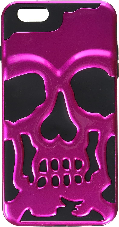 MyBat APPLE iPhone 6 Plus Skullcap Hybrid Protector Cover - Retail Packaging - Black/Pink