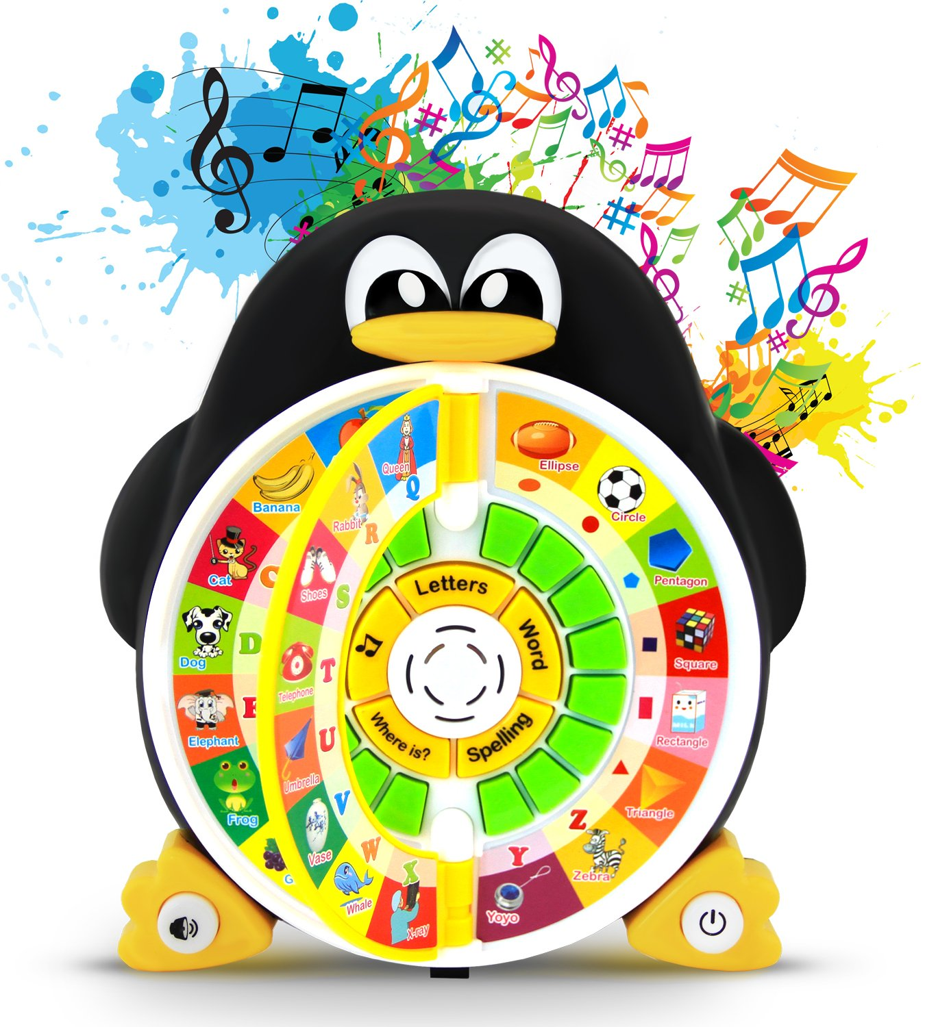 """Boxiki kids Penguin Power ABC Learning Educational Toy By Learning Game Center Boosts Core Pre-Kindergarten Subject Comprehension – ABCs, Words, Spelling, Shapes, """"Where Is?"""" & Songs"""