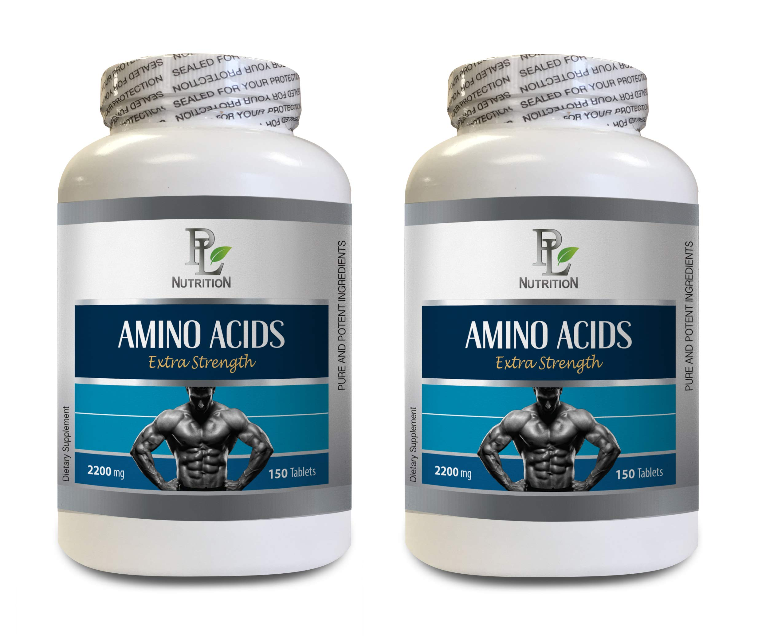Muscle Building Fat Burner - Amino ACIDS 2200mg - Extra Strength - Amino acids l-arginine - 2 Bottles 300 Tablets