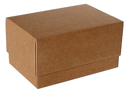 Caja para regalo automontable, set 12 unidades Kraft (15 x 10 x 8)