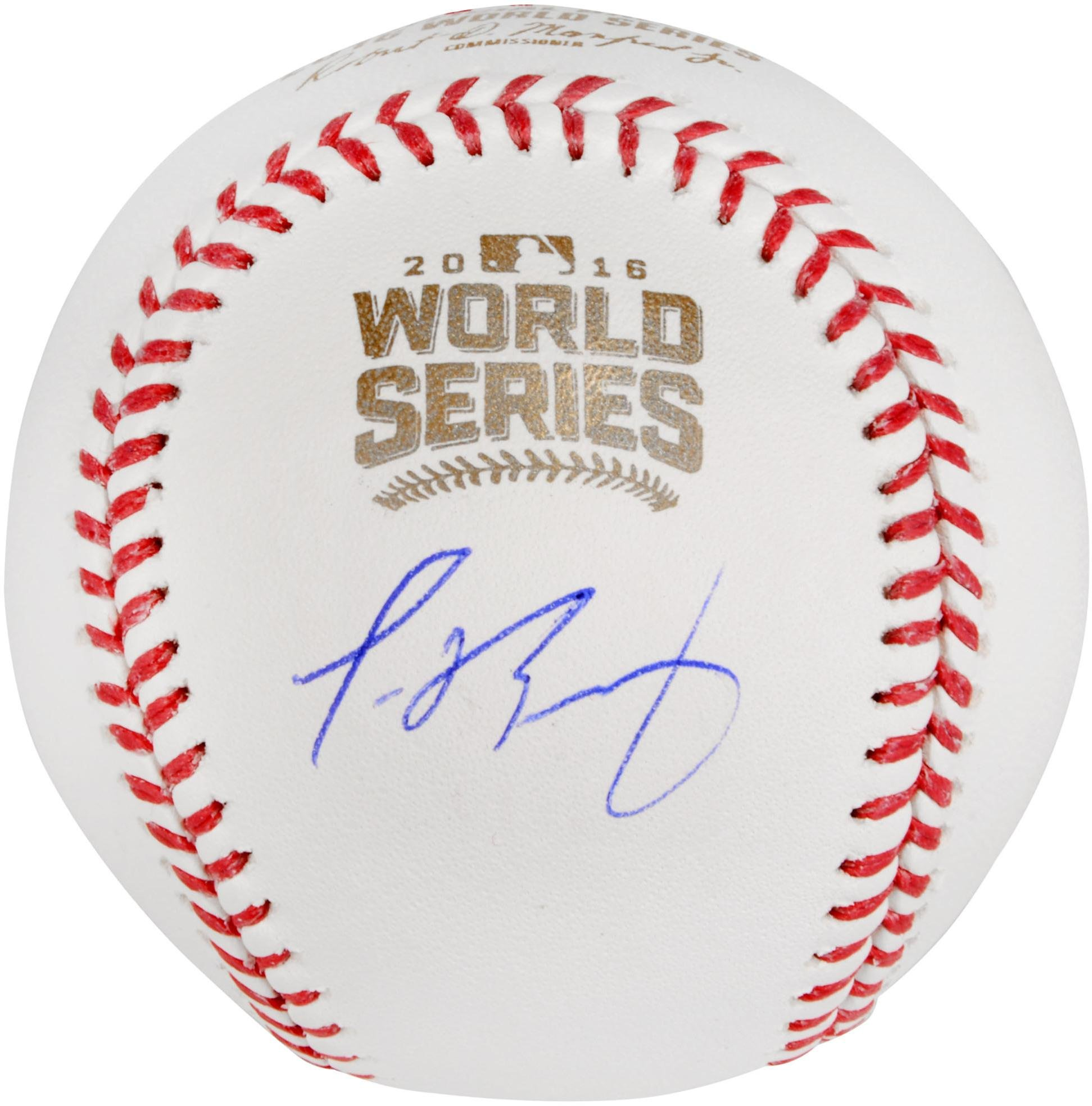 Javier Baez Chicago Cubs Autographed 2016 MLB World Series Baseball Fanatics Authentic Certified Autographed Baseballs