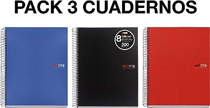 MIQUELRIUS - Pack 3 Cuadernos A4 Cuadriculados, Espiral ...