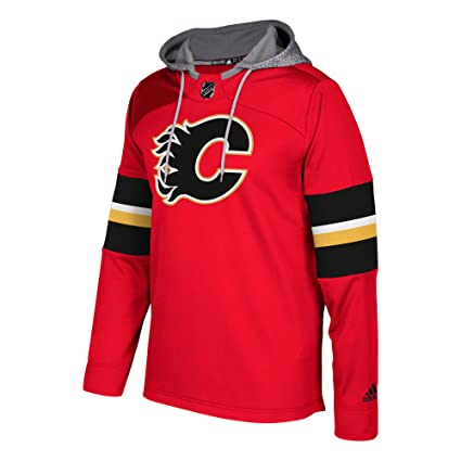 Amazon.com   adidas Calgary Flames NHL Platinum Jersey Hoodie - XX ... c03967d12