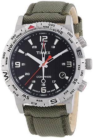 timex t2p286 men s watch analogue quartz compass luminescent gps timex t2p286 men s watch analogue quartz compass luminescent gps nylon strap green