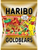 HARIBO Goldbears Gummy Candy, 1kg | Pineapple, Strawberry, Lemon, Orange, Raspberry
