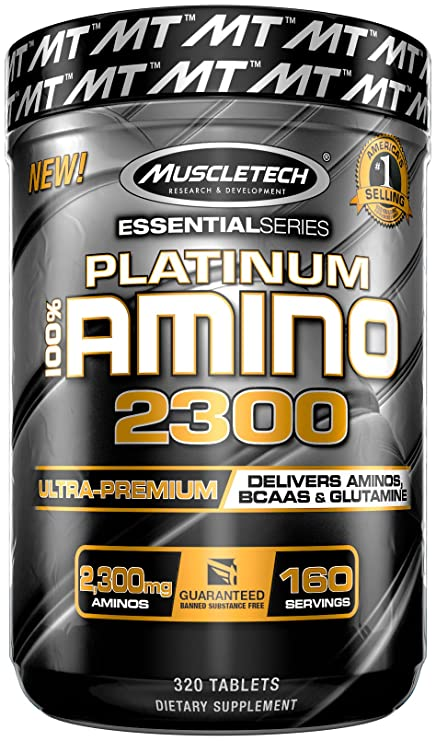 Muscletech Essential Series Platinum 100% Amino 2300 Standard - 320 Cápsulas
