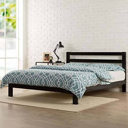 Amazon Com Queen 10 Metal Platform Bed With Headboard