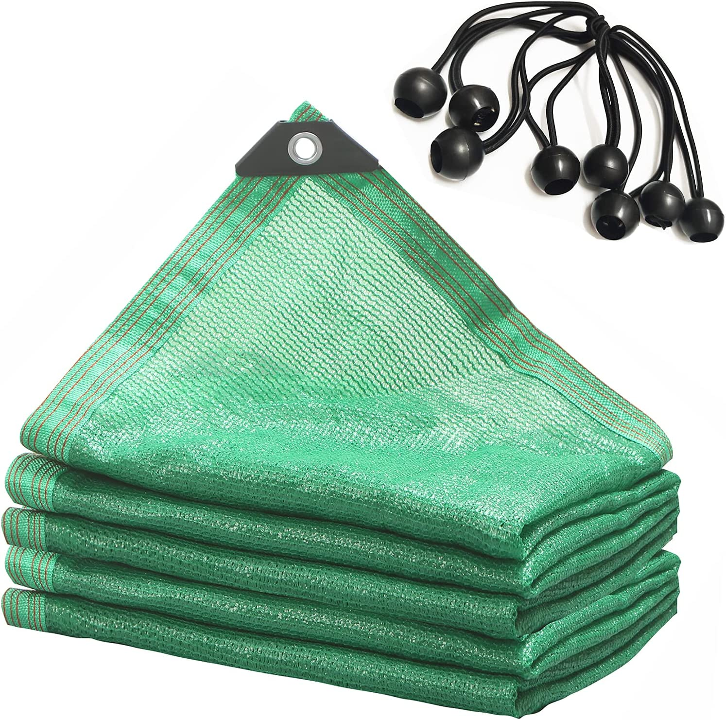 None/Brand Sunblock Shade Cloth Greenhouse Covers Fabric Mesh Tarp 70% UV Resistant Green Net Shading for Garden Plants Patio Lawn Flowers Outdoor Sunshade Sunscreen,with Grommets 6.5'x6.5'-Green