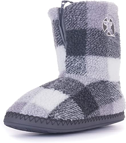 McQueen Check Sherpa Slipper Boots
