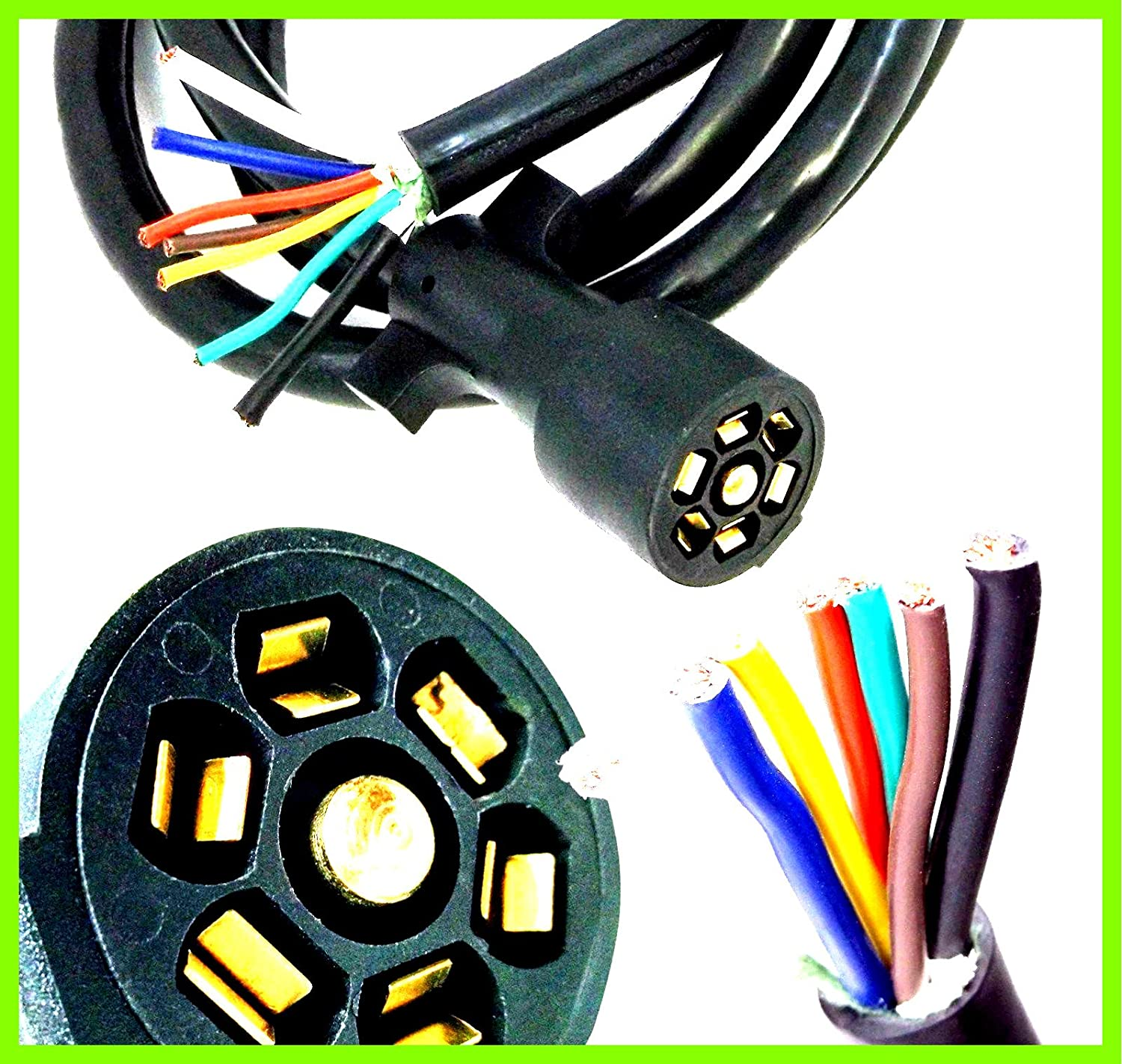 [DIAGRAM_3NM]  Amazon.com: Cord Wire Harness 100% Copper Heavy Duty Light Plug 7 Way 8FT  Foot Light Plug Connector Trailer Molded RV Cable - House Deals: Automotive | Wire Harness House |  | Amazon.com