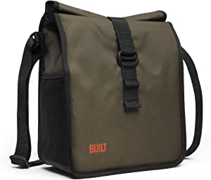 BUILT NY Built NY LBM02-OLV Crosstown Stain Resistant Insulated Lunch Bag with Adjustable Shoulder Strap, Olive