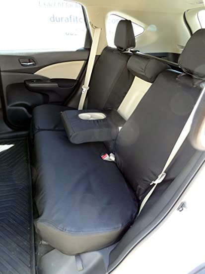 Durafit Seat Covers 2012 2016 Honda CRV Back Black Twill
