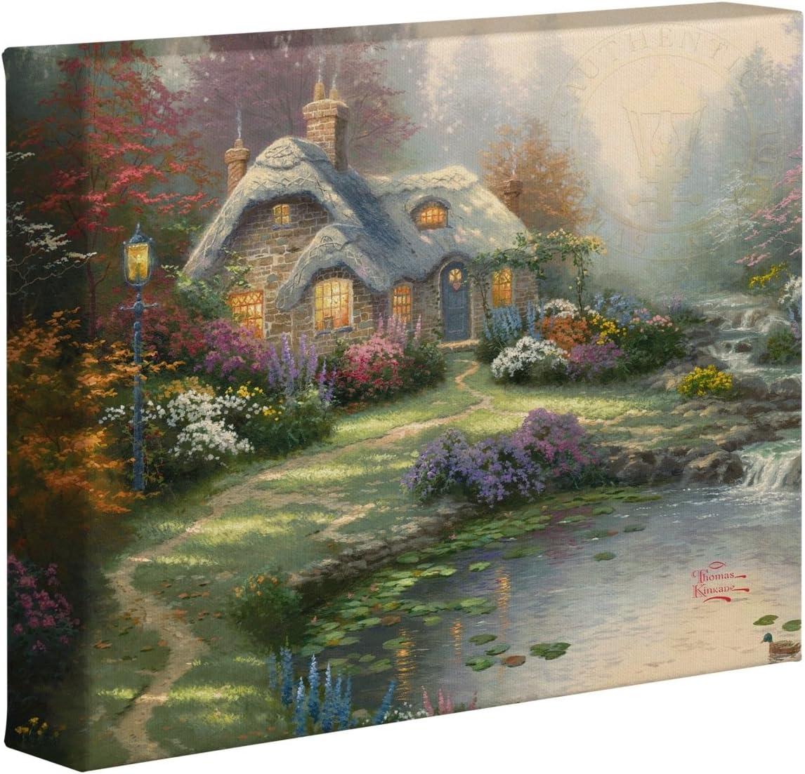 Thomas Kinkade Everett's Cottage 8 x 10 Gallery Wrapped Canvas