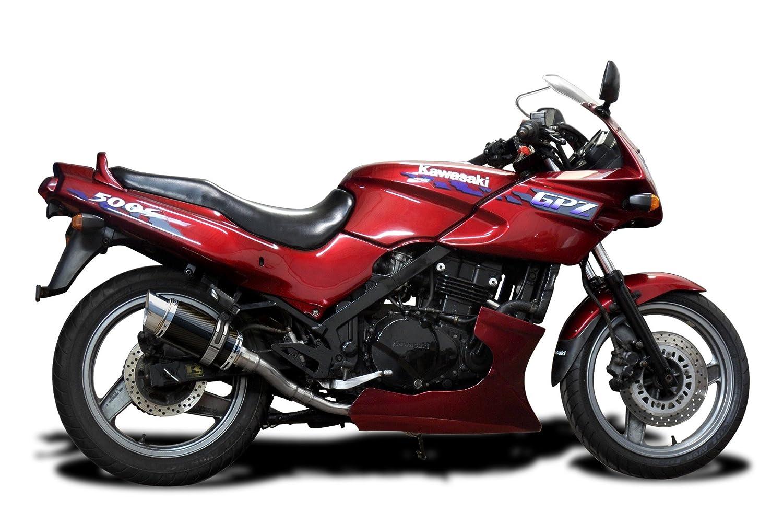 Delkevic Aftermarket Slip On compatible with Kawasaki Ninja 500 EX500 GPZ500S Mini 8