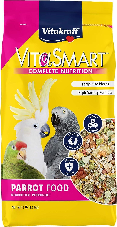 Vitakraft Vitasmart Parrot Food, High Variety Formula - 7Lbs