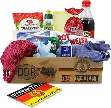 OLShop AG ostpaket Kult Productos Pequeño con 13 típicos Productos de la DDR Regalo Idea Especialidades spezialität del Paquete Inter Shop ostprodukte Set de Regalo: Amazon.es: Hogar