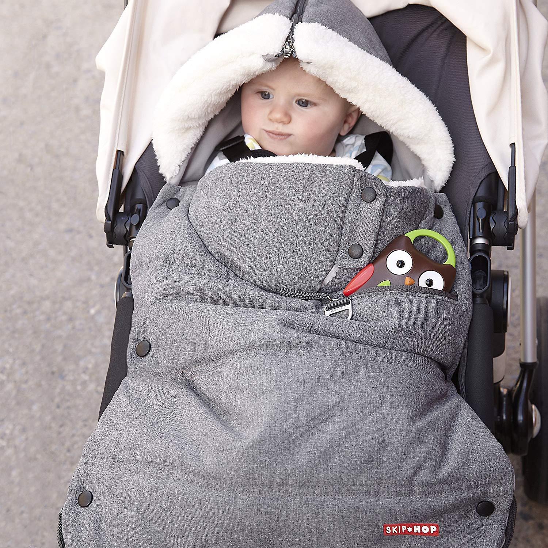 Skip Hop Stroll-and-Go Three-Season Stroller Footmuff, Infant, Heather Grey