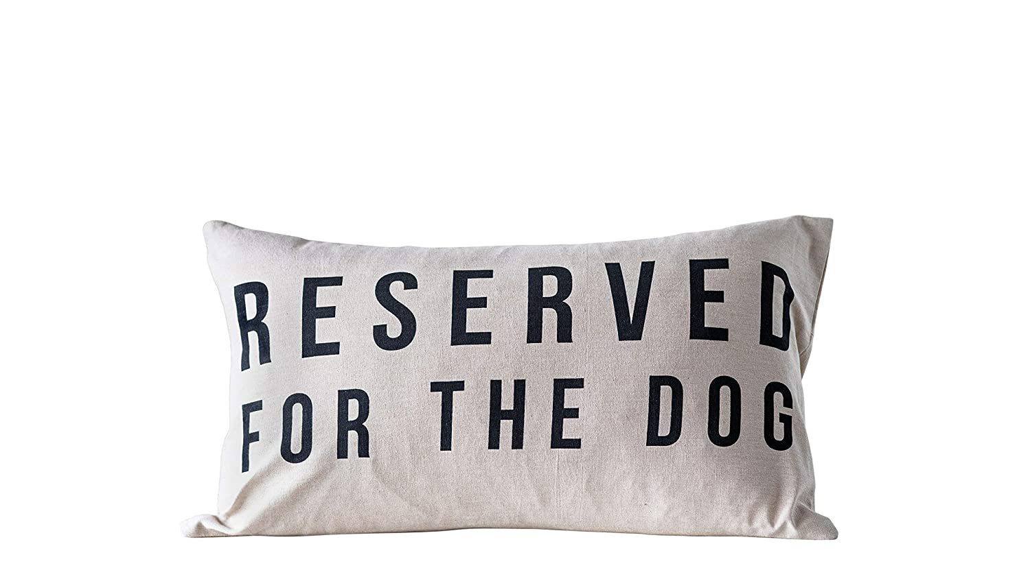 Reserved for the Dog - a pillow to add whimsy to your sofa, bed, porch, or chair at home.