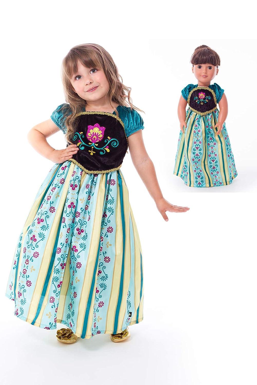 Little Adventures スカンジナビア戴冠式プリンセス ドレスアップ コスチューム&マッチングドールドレス(Sサイズ1~3歳)   B07K8ZDFSC